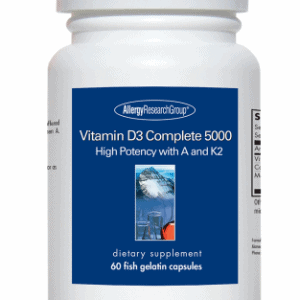 Vitamin D3 Complete 5000 60 Fish Gelatin Capsules By Allergy Research Group