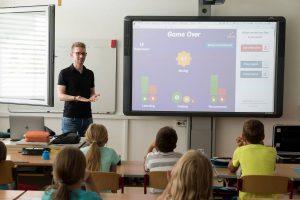 Back to school: children in classroom