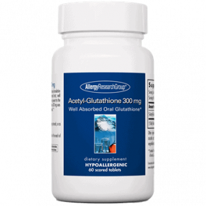 acetyl glutathione 300 mg 60t by allergy research group