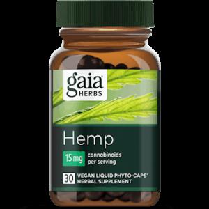 hemp full spectrum extract 15 mg 30 caps by gaia herbs
