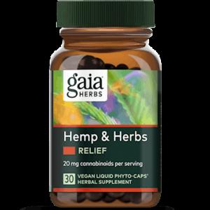 hemp & herbs relief 30 caps by gaia herbs